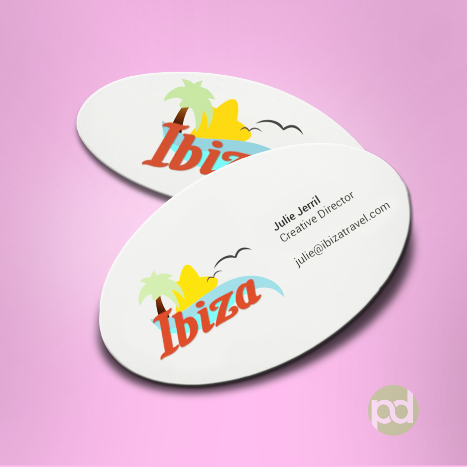 Oval business cards print dallas oval business cards colourmoves